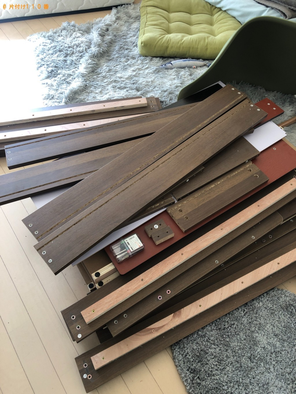 【下関市山手町】マットレス付きシングルベッドの回収・処分ご依頼