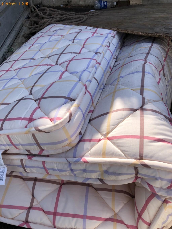 【下関市東向山町】シングルベッドマットレスの回収・処分ご依頼