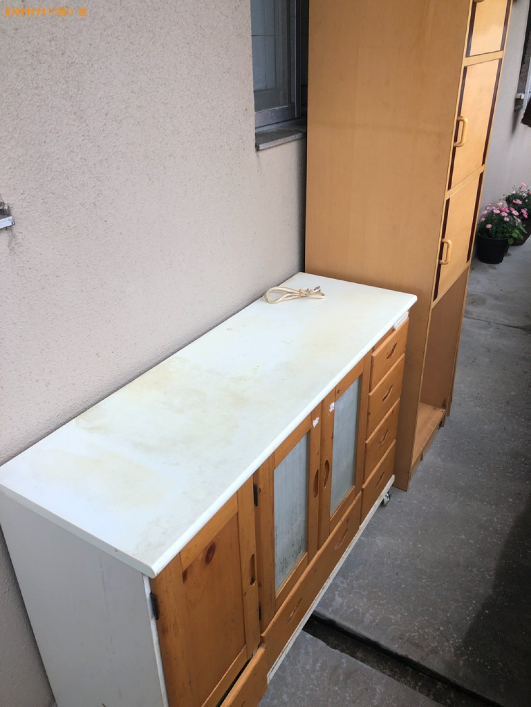 【下関市武久町】タンス、カラーボックス、レンジ台の回収・処分