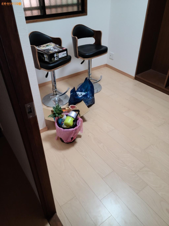 【下関市上新地町】椅子、ゴミ箱、観葉植物等の回収・処分ご依頼
