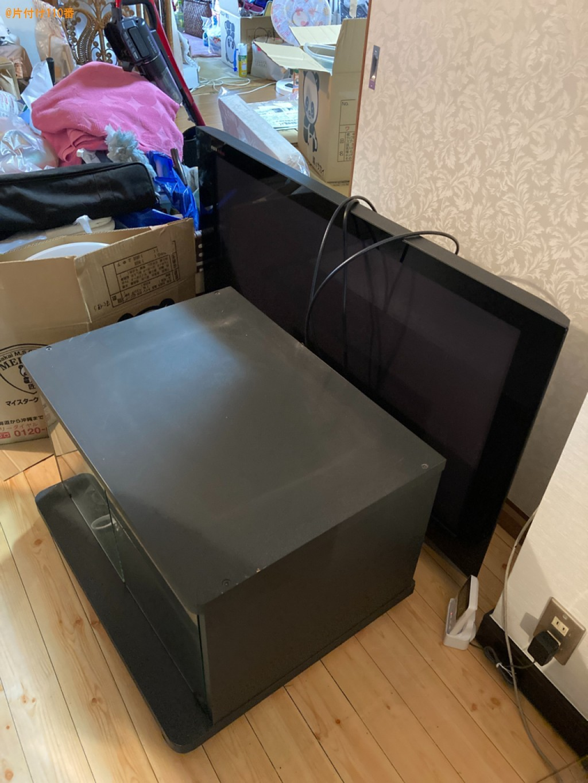 【下関市貴船町】テレビ、テレビ台の回収・処分ご依頼 お客様の声