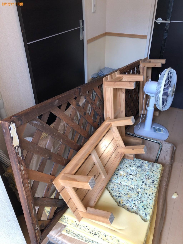 【下関市】二人掛けソファー、掃除機、扇風機、木の台等の回収・処分