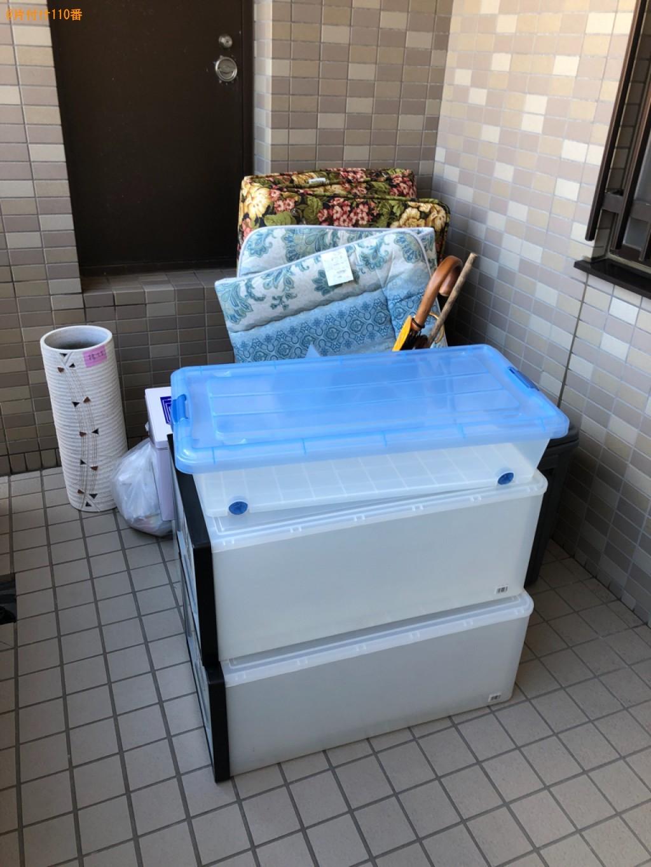 【下関市山の田東町】ウレタンマットレス、衣装ケース、傘等の回収